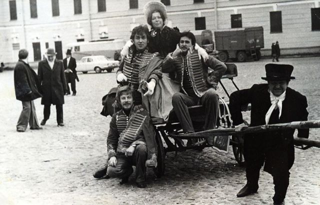 Фото со съемочных площадок советских фильмов (21 фото)