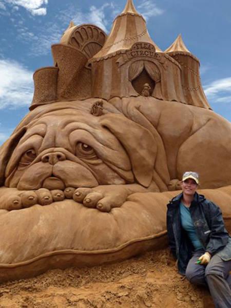 Скульптуры из песка (24 фото)