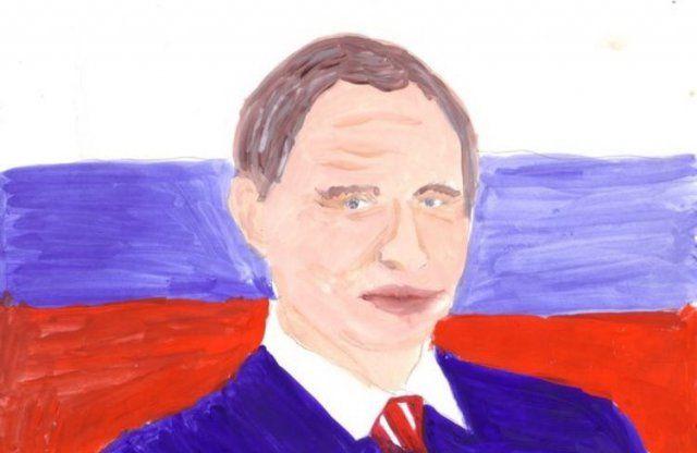 Каким видят Путина российские дети (27 фото)