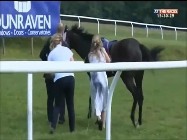 Вот она женщина, которая коня на скаку остановит