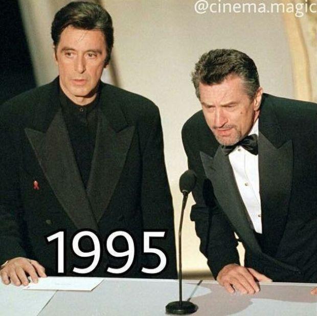 Как с годами менялись Аль Пачино и Роберт Де Ниро (4 фото)