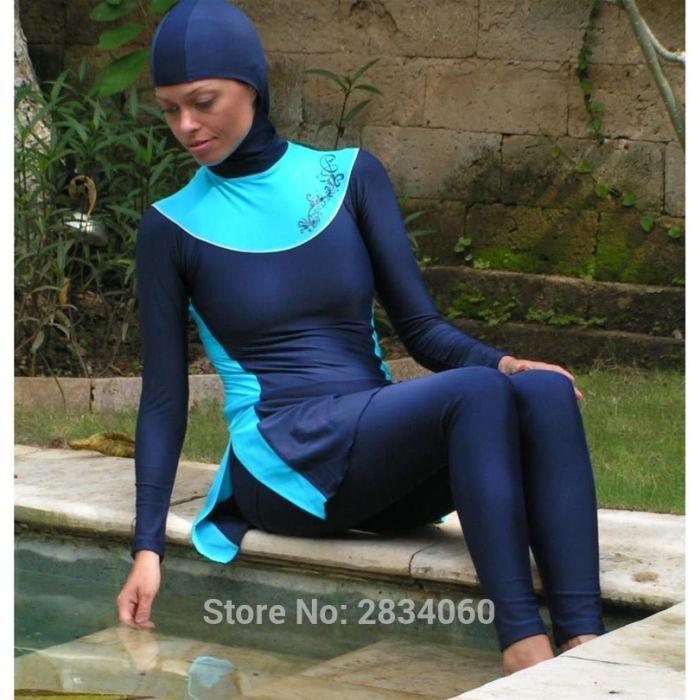 Пляжные наряды мусульманок (14 фото)
