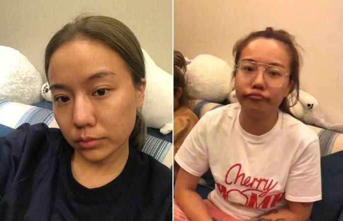 Только взгляните на то, как меняется эта девушка после нанесения макияжа (5 фото)