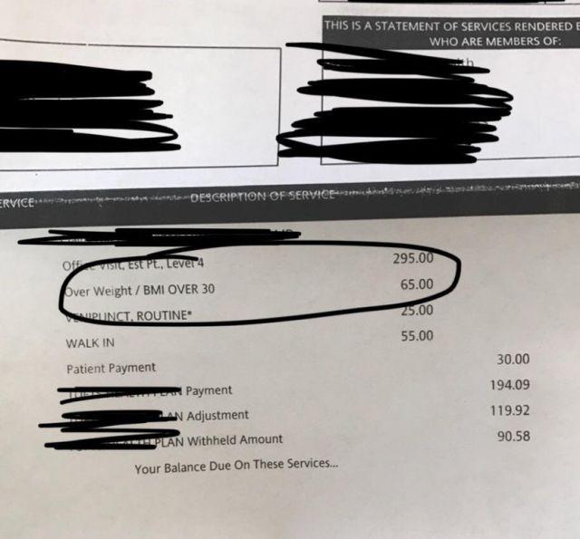 В США пациенту пришлось заплатить за лишние килограммы (фото)