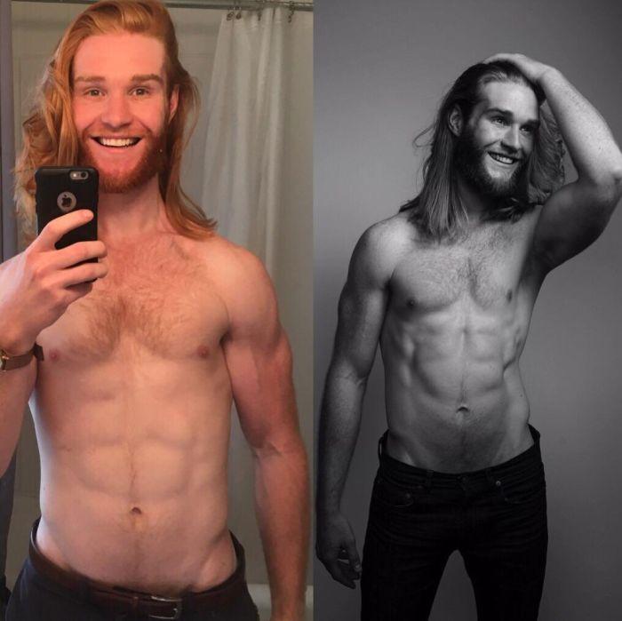 Преображение тучного парня (4 фото)