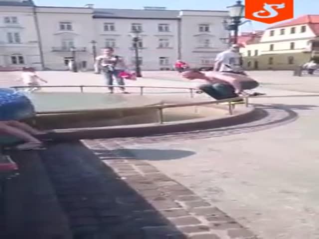 Прыжок в фонтан