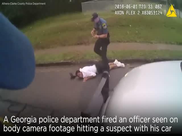 Чтобы остановить подозреваемого, полицейский сбил его машиной