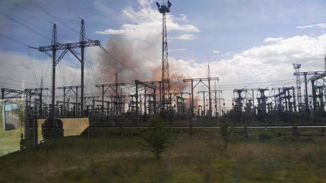 Пожар в «рыжем лесу» в зоне отчуждения ЧАЭС (7 фото)