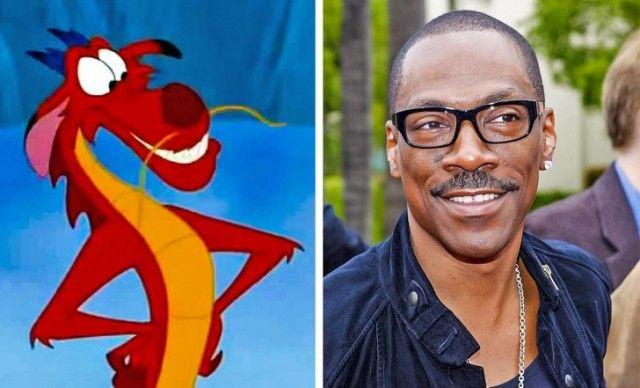 Герои мультфильмов, которые очень похожи на известных актеров (15 фото)