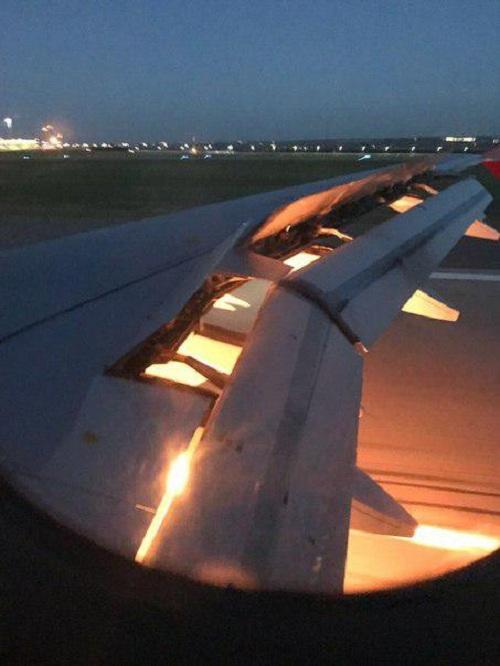 У самолета сборной Саудовской Аравии загорелся двигатель