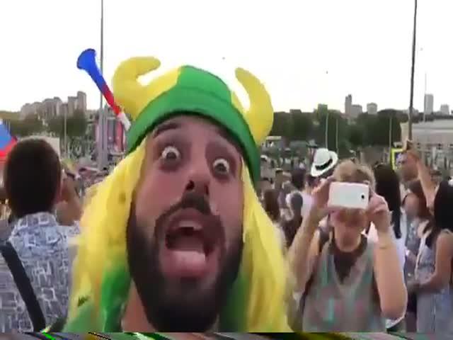 Обрусевшие бразильские болельщики