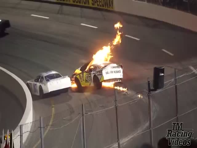 Гонщика NASCAR Майка Джонса спас его собственный отец