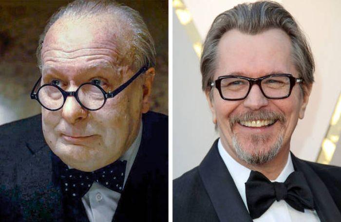 Актеры в фильмах и в жизни (18 фото)