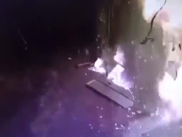 Взрыв на АЗС под Киевом из-за забывчивости водителя