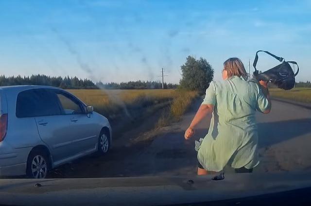Экшен на сельской дороге: погоня, угрозы, конфликт