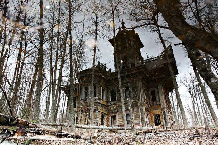 Деревянный терем 19 века в Костромской области (9 фото)