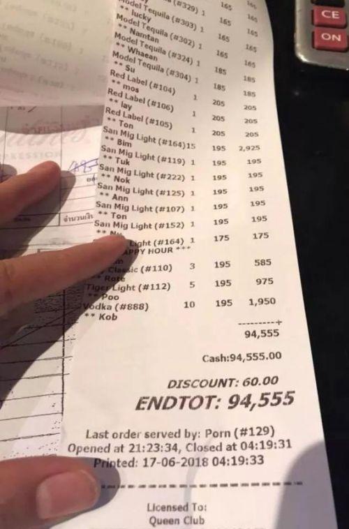 Туриста из России заставили заплатить огромную сумму за отдых в тайском баре (2 фото)