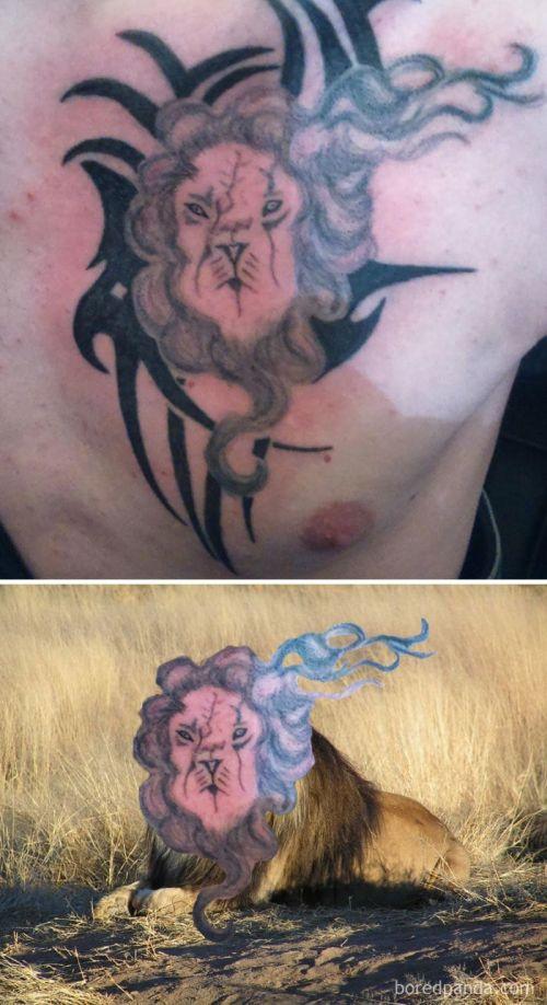 Если бы татуировки соответствовали реальности (22 фото)