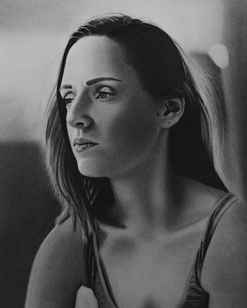 Реалистичные портреты от необычного художника (6 фото)
