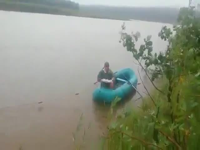 Фотосессия на рыбалке не удалась
