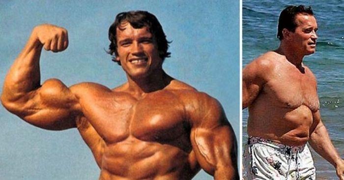 Как с годами изменились известные бодибилдеры (14 фото)