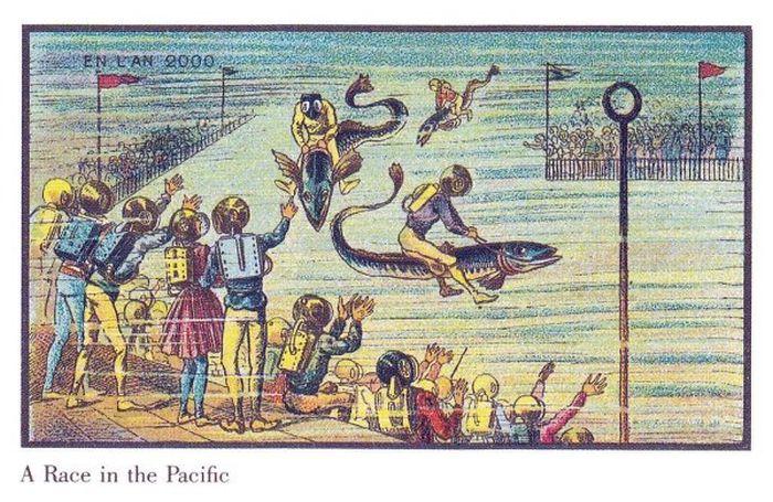 Рисунки 1910 года, отображающие будущее (32 картинки)