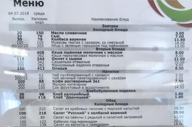 Цены на еду в столовой Газпрома (3 фото)