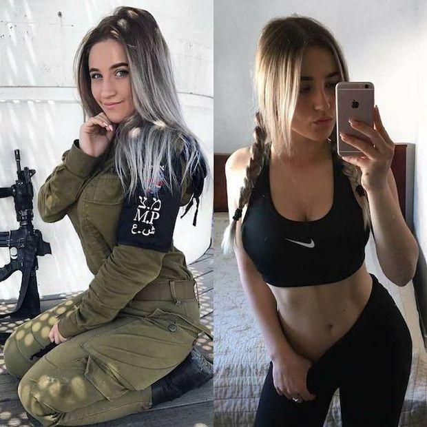 Симпатичные девушки в форме и без (26 фото)