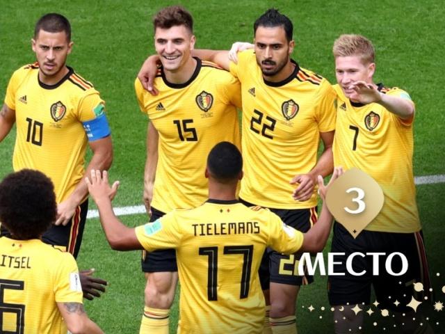Бельгия взяла бронзу на ЧМ 2018, отправив Англию домой