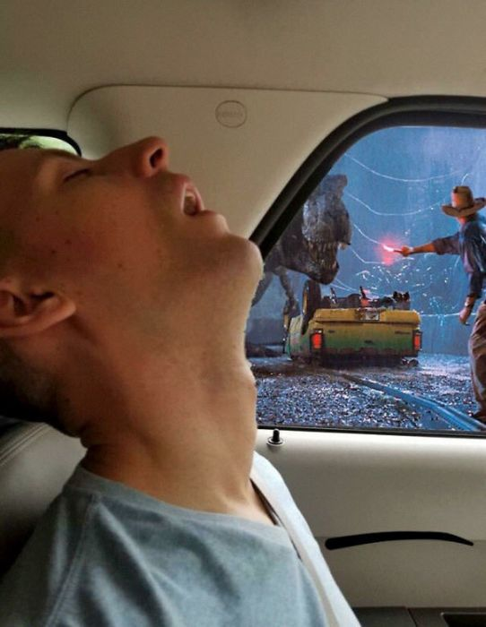 Фотожабы: пока твой друг спал (10 фото)