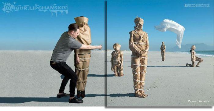 Российский фотошопер добавляет себя на обложки музыкальных альбомов (20 фото)
