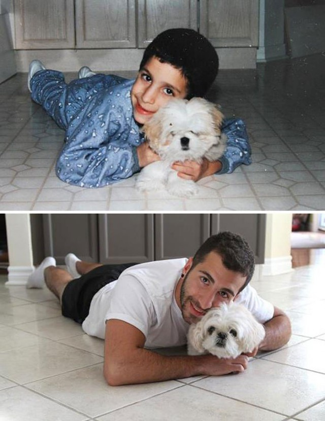 """Семейные фотографии в стиле """"тогда и сейчас"""" (17 фото)"""