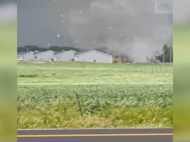 Торнадо в американском штате Айова