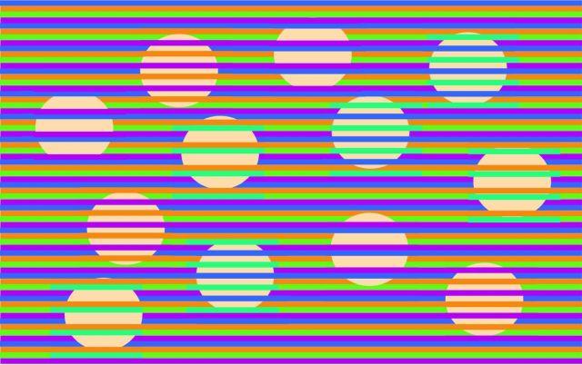 """Оптическая иллюзия """"Конфети"""": какого цвета круги? (3 картинки)"""