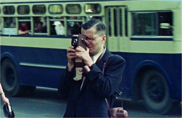 Советские люди: цветная кинохроника 1956 года (36 фото)