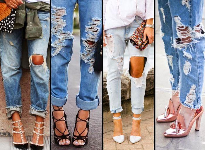 """Как изготавливают """"рваные"""" и """"потертые"""" джинсы (4 фото + видео)"""