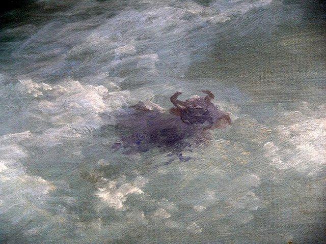 """Картина """"Волна"""" Айвазовского и деталь, которую сложно заметить в учебнике (2 фото)"""