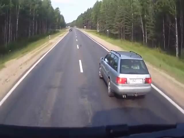 Водитель Audi несколько раз создавал аварийную ситуацию на трассе