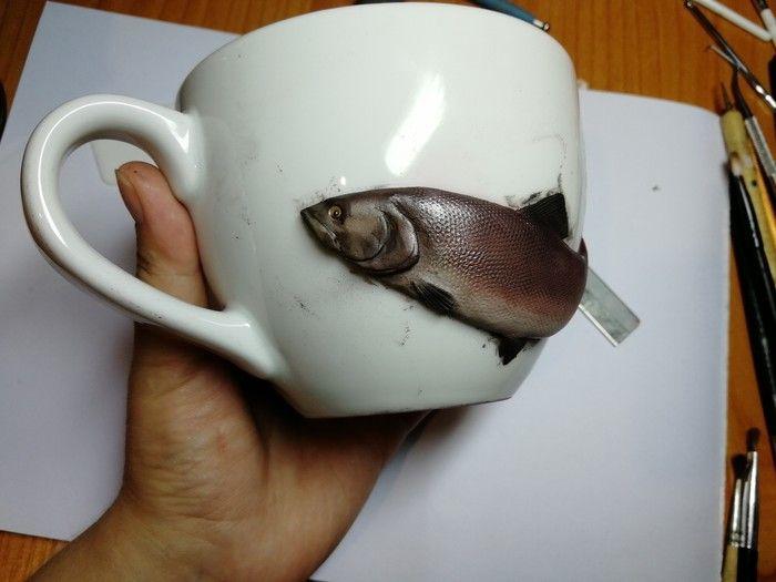 """Мастерская работа: изготовление """"живой"""" рыбы (11 фото)"""