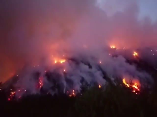 В Смоленской области уже почти неделю горит мусорный полигон