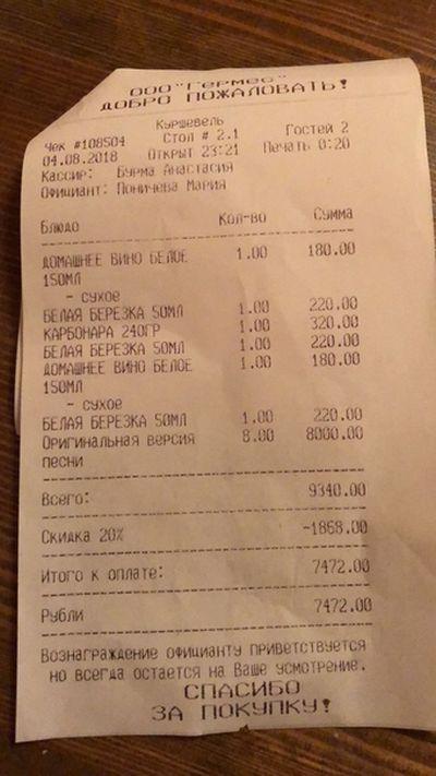 Депутат Савва Коргунов не стал оплачивать счет в караоке-баре (2 фото + 2 видео)