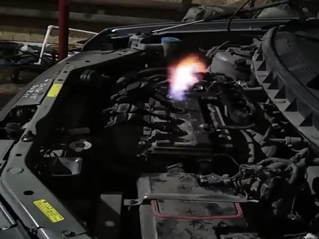 """Звук """"сушки"""" цилиндров на автомобиле"""