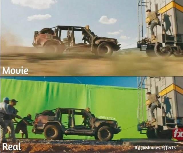 Современные кинофильмы до и после добавления компьютерной графики (44 фото)