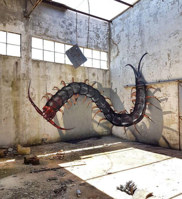 Duvarlarda ki 3D Resimler (9 fotoğraf)