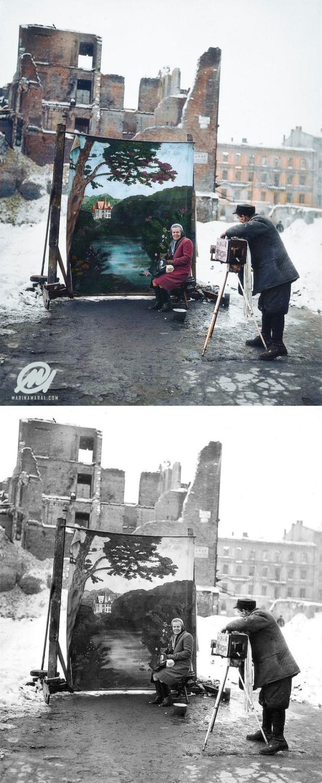 """""""До и после"""" колоризации старых снимков (30 фото)"""