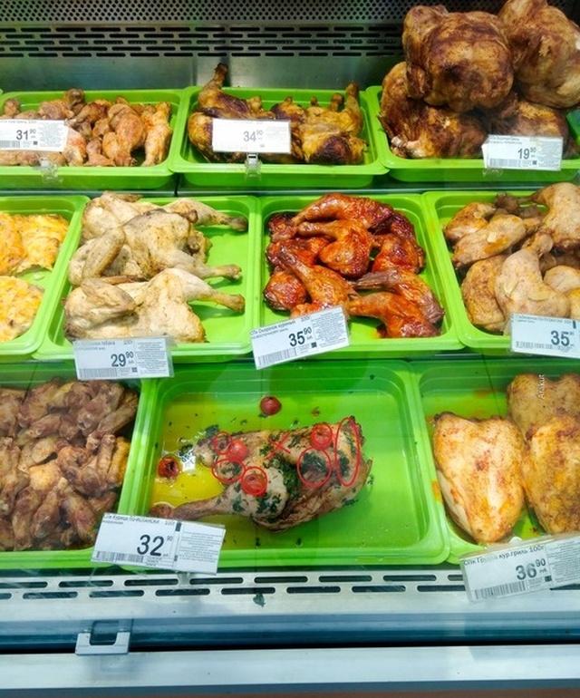 Сколько дней на прилавке магазина может пролежать жареная курица? (12 фото)