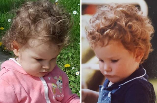 Когда генетика творит чудеса: сходства родителей и детей (20 фото)