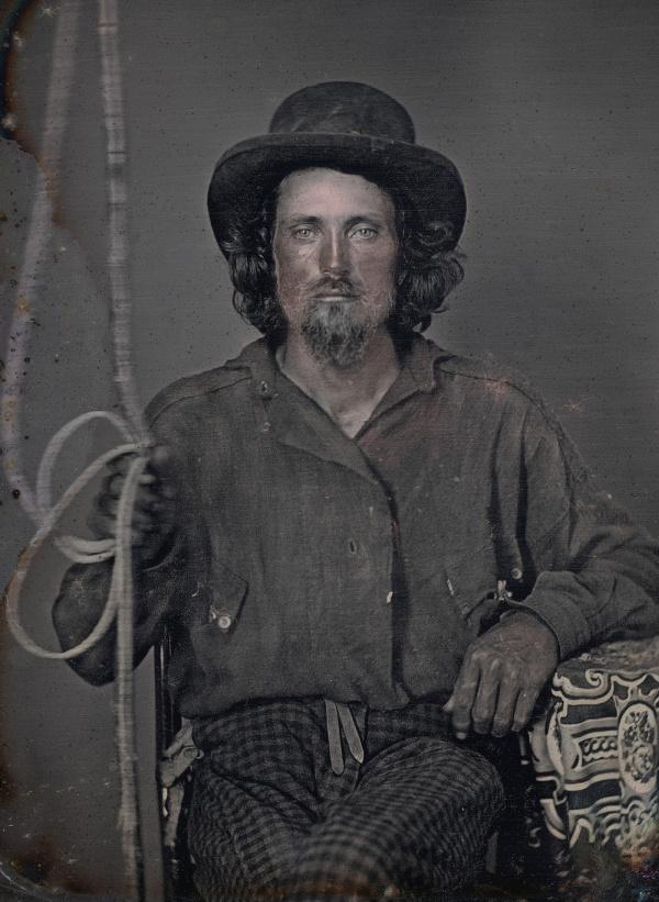 Портреты золотоискателей, прибывших в Калифорнию в 1850-х годах (14 фото)