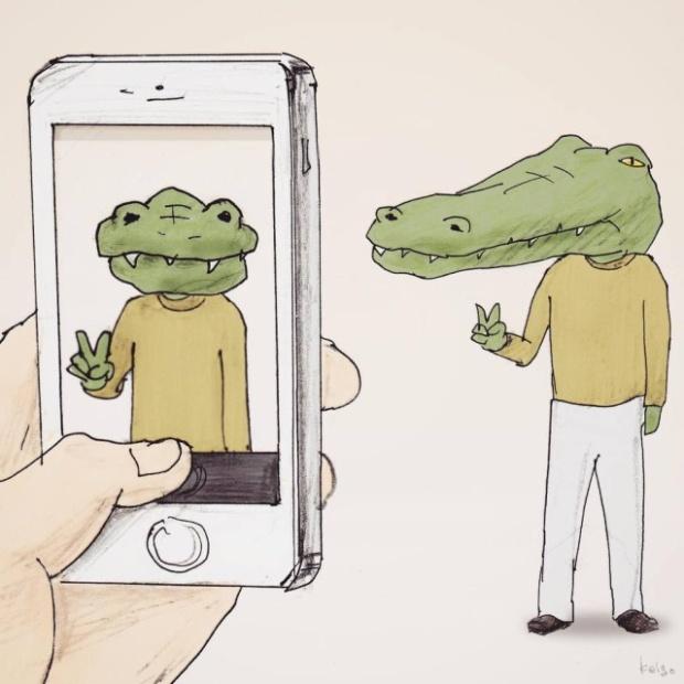 Проблемы крокодилов, живущих среди людей (25 картинок)