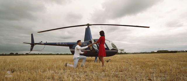 Предложение руки и сердца, для которого потребовался вертолет (10 фото)